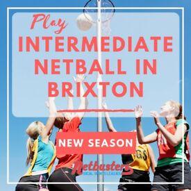 NEW SEASON - Play Intermediate Level Netball in Brixton!