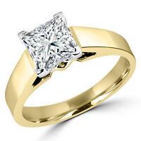 Diamond engagement ring 1.00CT Bague de fiançailles 14k or jaune