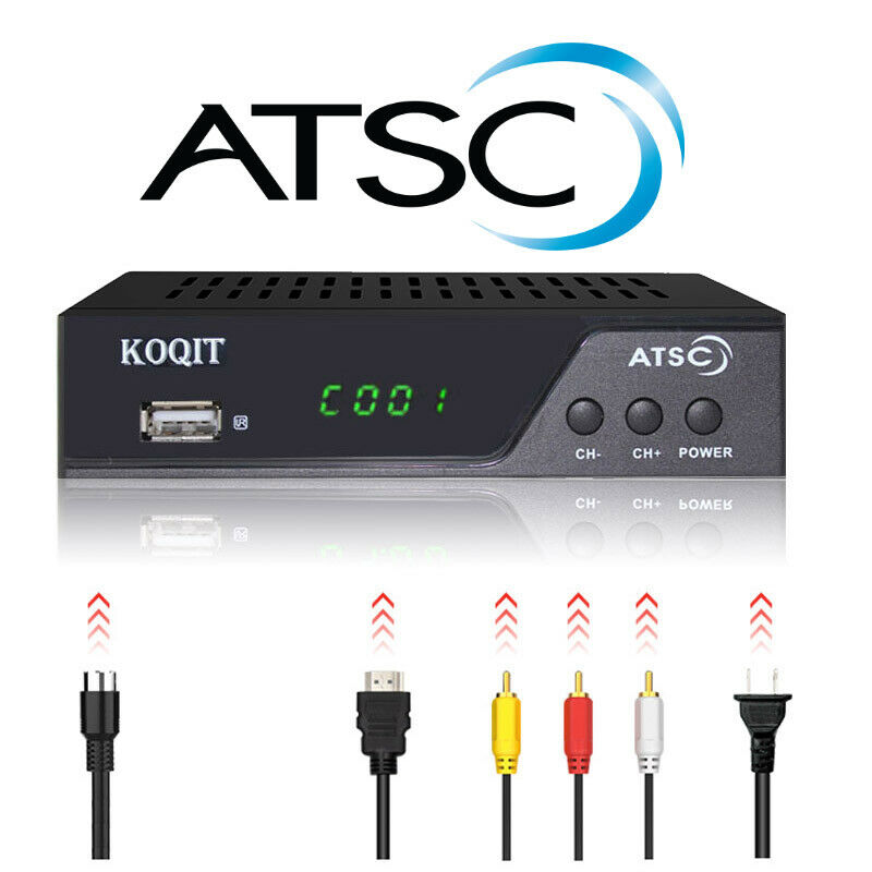 Digital Converter ATSC TV Box Tuner Analog Qam Free Cable Receiver  DVR Recorder