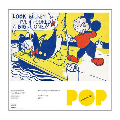 """ROY LICHTENSTEIN MUSEO LITHO PRINT EXBITION POSTER """"LOOK MICKEY"""""""