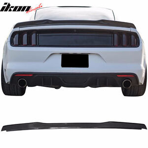 15-17 Ford Mustang Coupe H Style High Kick V Trunk Spoiler -Carb
