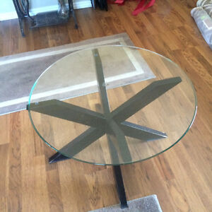 Pier 1 glass top coffee table