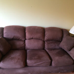 Brown Fabric Lazy Boy Couch 3 Cushions Kitchener / Waterloo Kitchener Area image 1