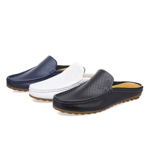 Summer Men Closed Toe Slip On Hollow Out Gommino Outdoor Casual Walking Slippers