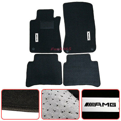 For 2003-2008 Mercedes Benz W211 E-Class Floor Mats Carpets Nylon Black AMG for sale  Shipping to Canada