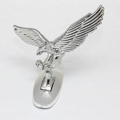 Car Front Cover Chrome Hood Ornament Badge 3D Emblem Angel Eagle For Auto Car