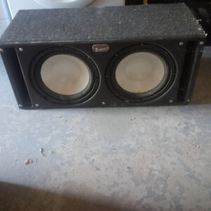 Car audio subwoofers and box