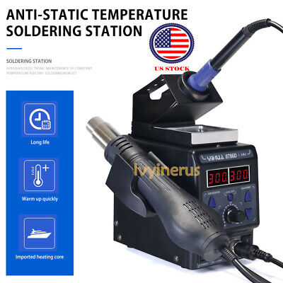 New Yihua 700w 8786d-i 2in1 Soldering Rework Station Iron Esd Welder Hot Air Gun