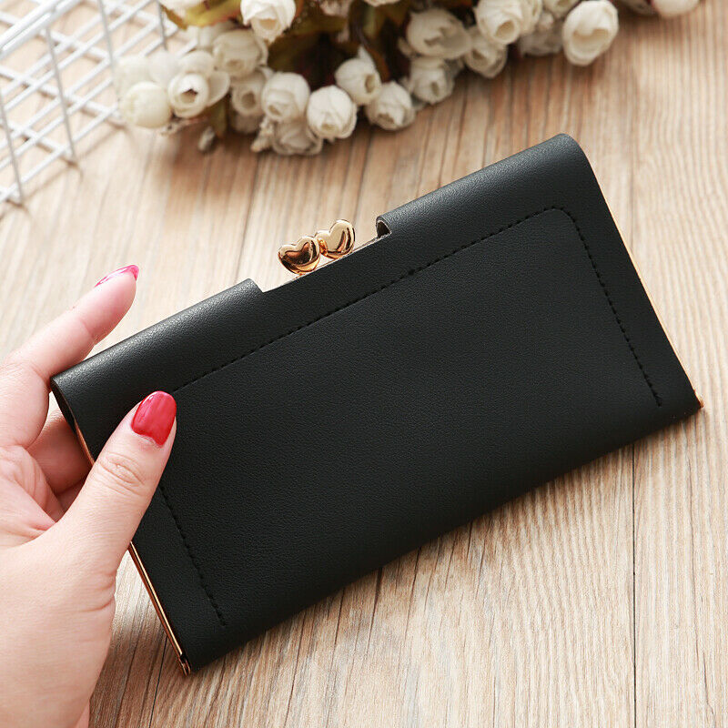 Womens Wallet Ladies Crown Long Card Holder Clutch Female Leather Purse Handbag Clothing, Shoes & Accessories