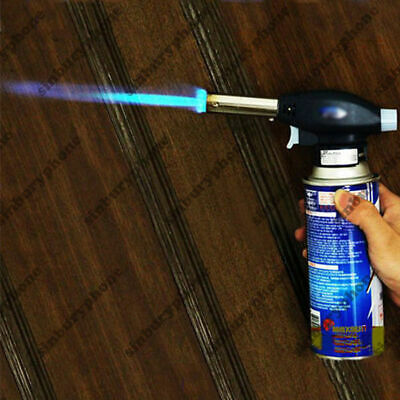 Blow Torch Butane Gas Flamethrower Burner Welding Auto Ignition Soldering BBQ