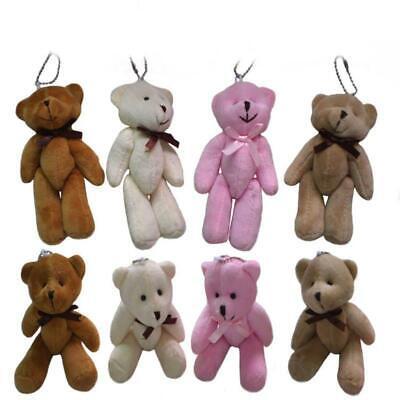 5'' Cute Small Mini Teddy Bear Stuffed Animal Doll Plush Soft Toy For Xmas Gifts ()