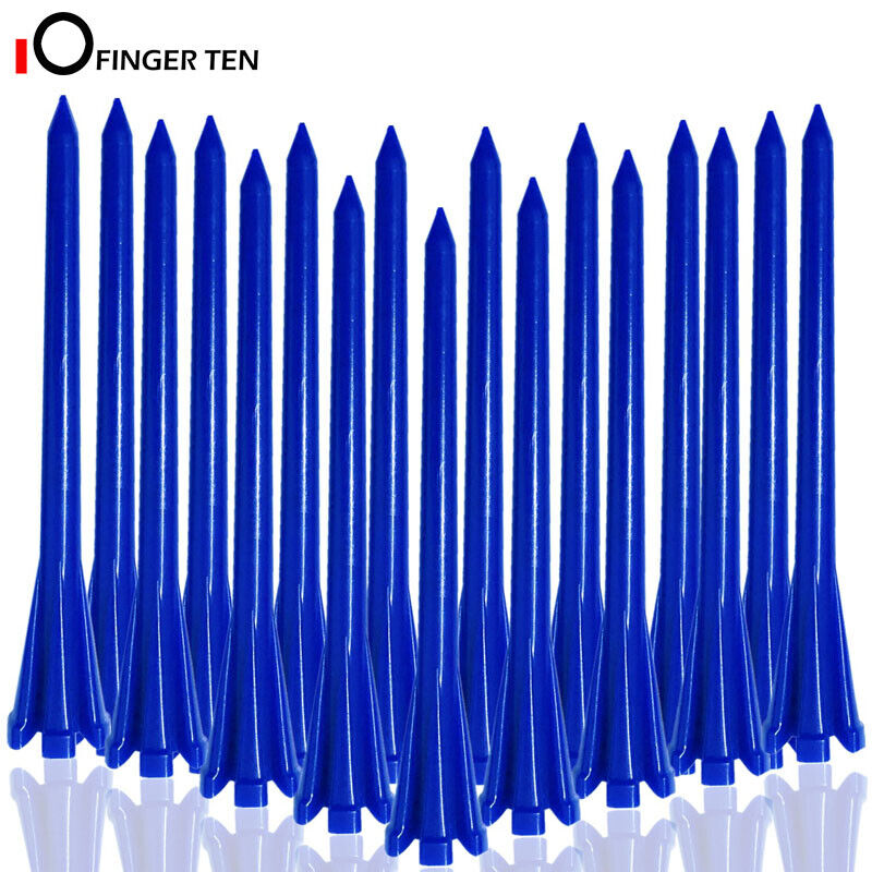 """Plastic Golf Tees 5 Claws Prong Tee 100 Pack -70mm 83mm Multicolor 2 3/4"""" 3 1/4"""""""