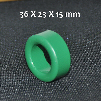 1pcs Green Ferrite Bead 36x23x15mm Toroide Cores Coil Inductor Ring Cable Filter