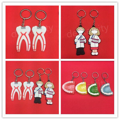 Dental Dentist Rubber Keychains Lab Promo Great Gift Couples Lovers Dental Gift