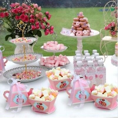 20*Candy Boxes Tea Party Favors Wedding Gifts for Guests Kid