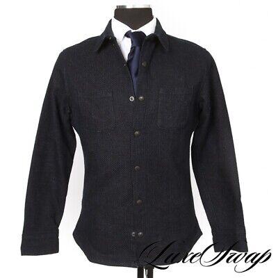 #1 MENSWEAR LNWOT Nine Lives Made in Japan Indigo Basketweave Shirt Jacket M NR