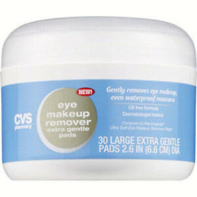 CVS Pharmacy Eye Makeup Remover 30 Large Oil-Free Ultra-soft Pads