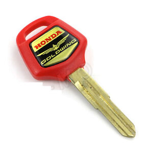 Honda Goldwing GL1800 Blank key Red Or Black . Brand New Blank