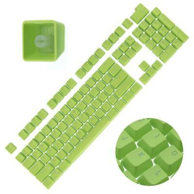 Backlit Double Shot Color Keycaps Cherry MX Mechanical Keyboard Themes Green 104
