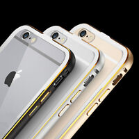 Luxury Aluminum Bumper Case with Clear Back For iPhone 6 and 6+