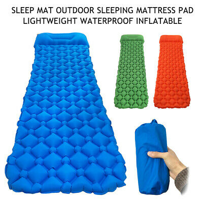 Self Inflatable Mat Outdoor Best Sleeping Pad Hiking Pillow Air Mattress
