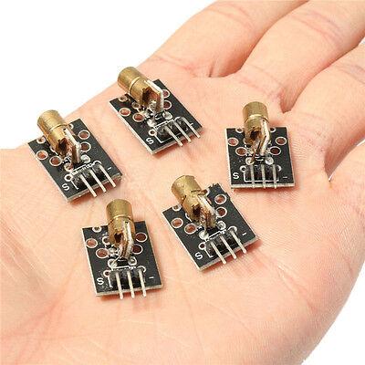 5pcs 5v Sensor Module Board For Arduino Avr Pic Ky-008 Laser Transmitter Hu