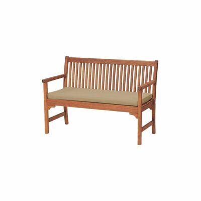 Caracella Marlboro Outdoor Garden Cushion for Bench, 108 x 45cm, Stone Beige