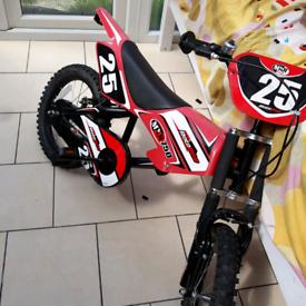 kids red motobike