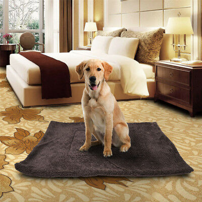 Soft Cozy Fleece Pet Blanket Waterproof Bed Mat Kennel for Home Dog Cat Puppy