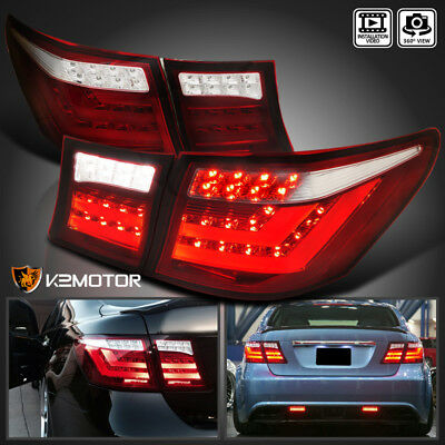 For 07-09 Lexus LS460 Red Clear Full LED Brake Reverse Tail Lights+Trunk Lamps