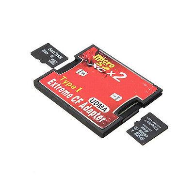 2 Port Micro SD TF SDHC Zu Typ I 1 Compact Flash Karte CF Lesegerät Adapter Tide
