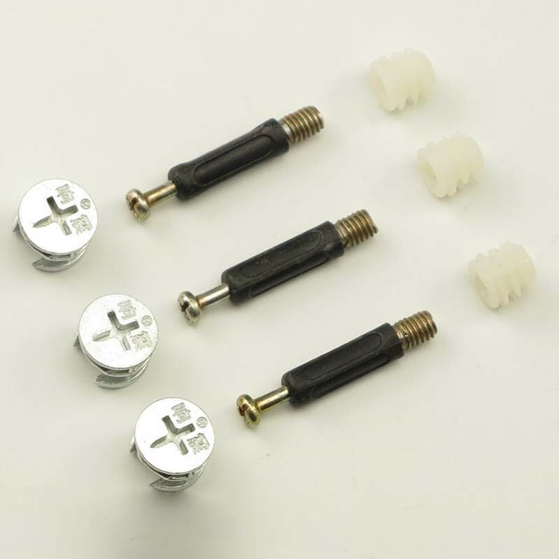 Set furniture connectors cam fittings assembly eccentric