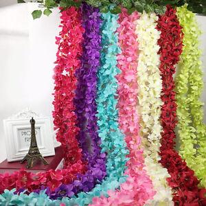 Hydrangea Artifical Silk Flower Vine Hanging Garlands Wedding Home Decor