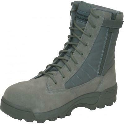 Safety Toe Combat Boots W/ Side Zipper