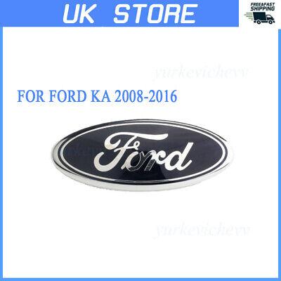 1PC Oval Badge Front Back Bonnet Emblem For Ford KA 2008-2016