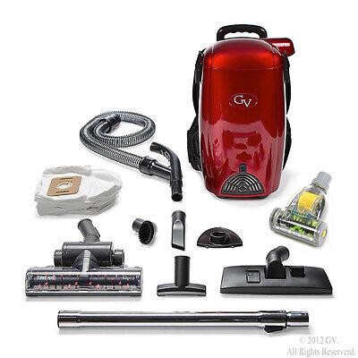 - 8 Qt Lightweight Powerful HEPA BackPack Hardwood floor Carpet Vacuum by GV Resta