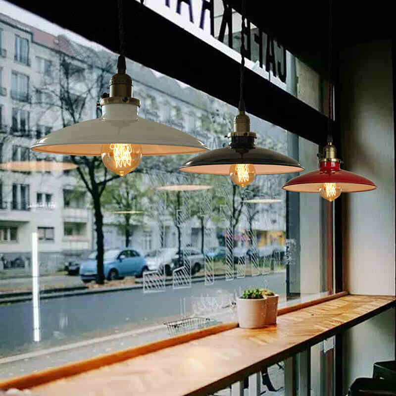 Details about Vintage Industrial Pendant Lamp Ceiling Light Restaurant  Kitchen Hanging Fixture