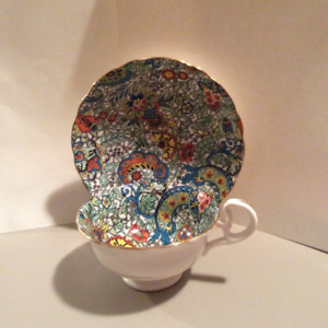 Vintage Collectible Fine Bone China Gilded Cup & Saucer Sets