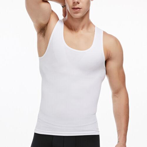 Mens Body Shirt Vest Elastic Slim Tank
