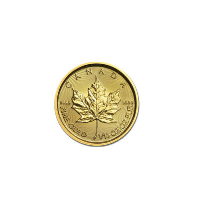 2018 1/10 oz Canadian Gold Maple Leaf $5 Coin .9999 Fine