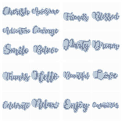 Wishing Words Metal Cutting Dies Stencil Scrapbooking Paper Card Crafts Decor Words Scrapbooking Paper