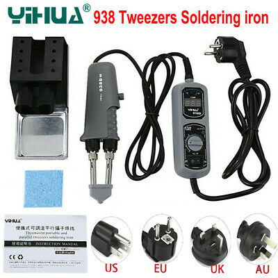 120w Yihua 938d 110v 220v Portable Tweezer Soldering Iron Station Rework Welding