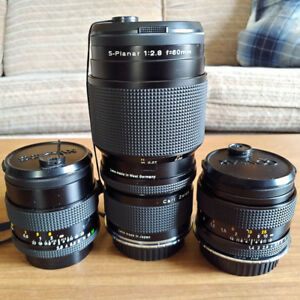 Carl Zeiss Lenses W/ Canon Adapters