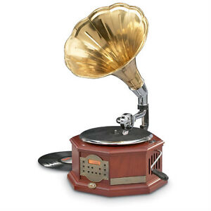 REPRODUCTION GRAMOPHONE RCA NEWPORT VICTROLA