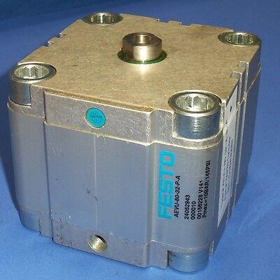 Festo 80mm Piston 32mm Stroke Pneumatic Compact Cylinder Aevu-80-32-p-a New
