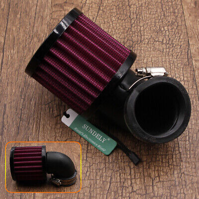 UK Universal 45mm Inlet Dia 90 Degree Bend Clamp-on Motorcycle Air Intake Filter