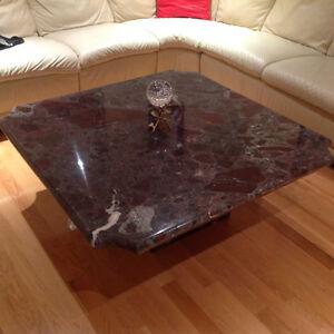Table de marbre veritable 39x39 po pied marbre $275