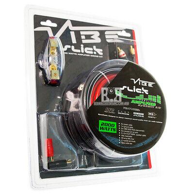 Vibe Slick 200W Watts 4 Stärke Awg Auto Verstärker Bass Wiring Kit VSAWK4 ()