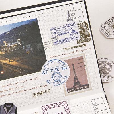 Travel Stamp Postmark Adhesive Decorative Notebook DIY Diary Scrapbook Sticker (Diy Notebook)