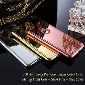iPHONE 6/6S 3PCS GLASS Cases with Temper Glass Protectors FREE